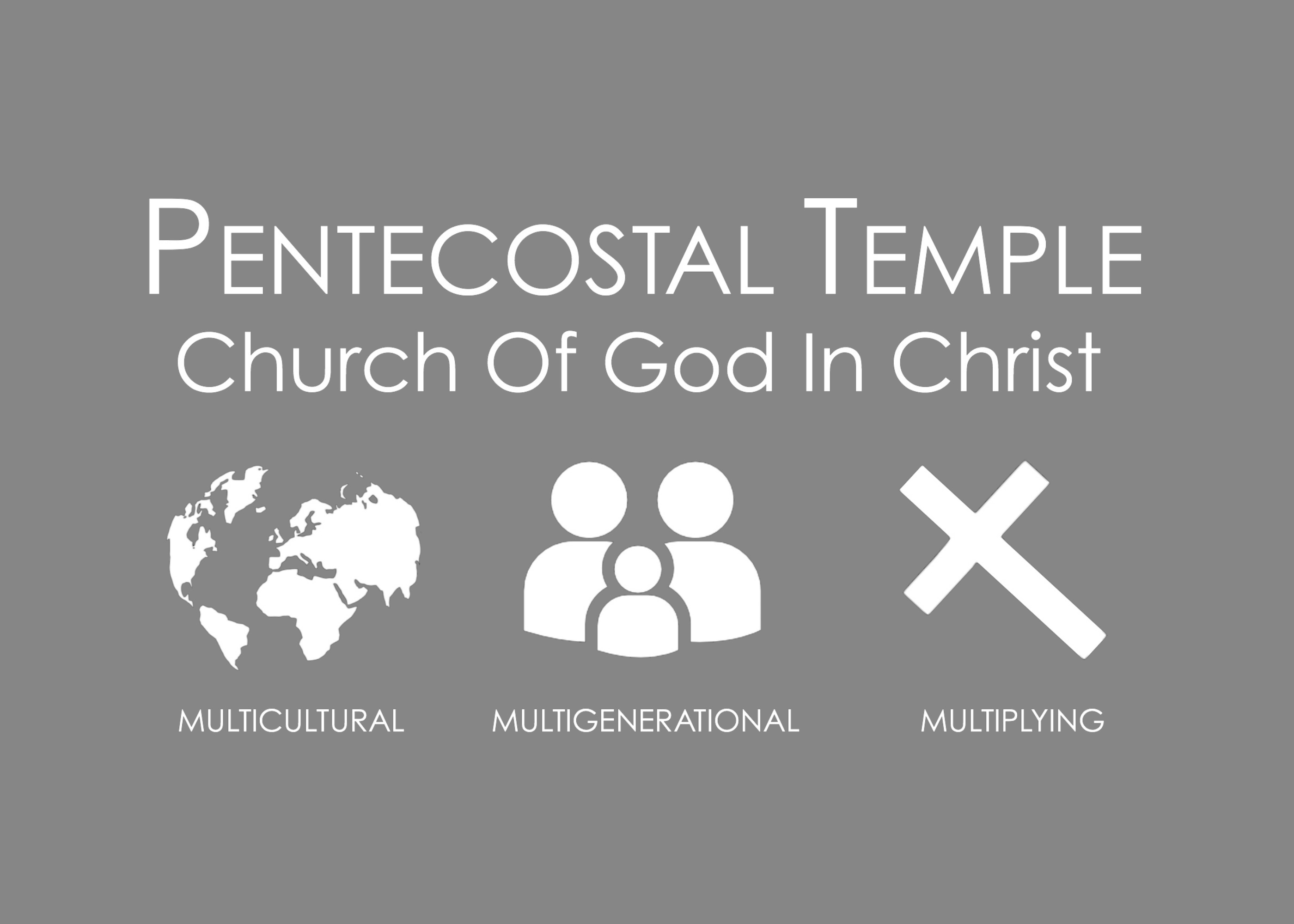 Pentecostal Temple Gray Flyer back